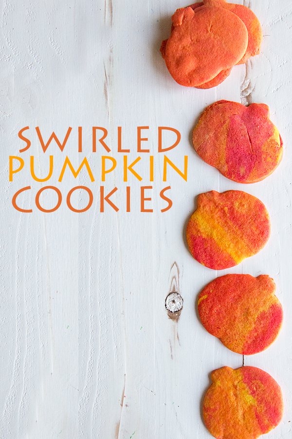 Swirled Pumpkin Cookies from the About What blog www.theaboutwhatblog.com