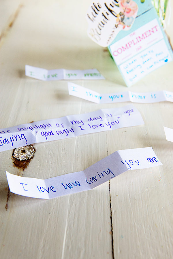 Making a Compliment Jar from theaboutwhatblog.com